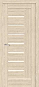 Дверное полотно Омис ПВХ остекленное дуб беленый Фелиция