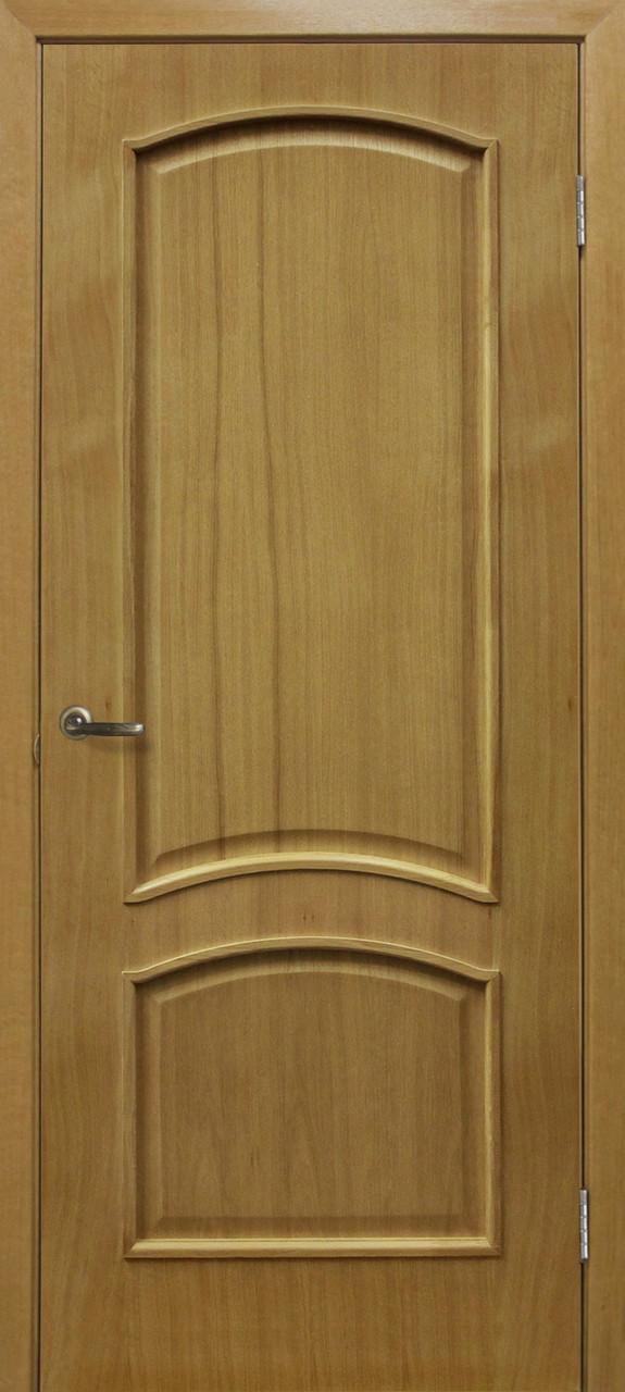 Дверне полотно шпонированное Оміс глухе дуб натуральний Капрі