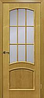 Двери шпонированные Капри полотно без стекла дуб натуральный тонированный
