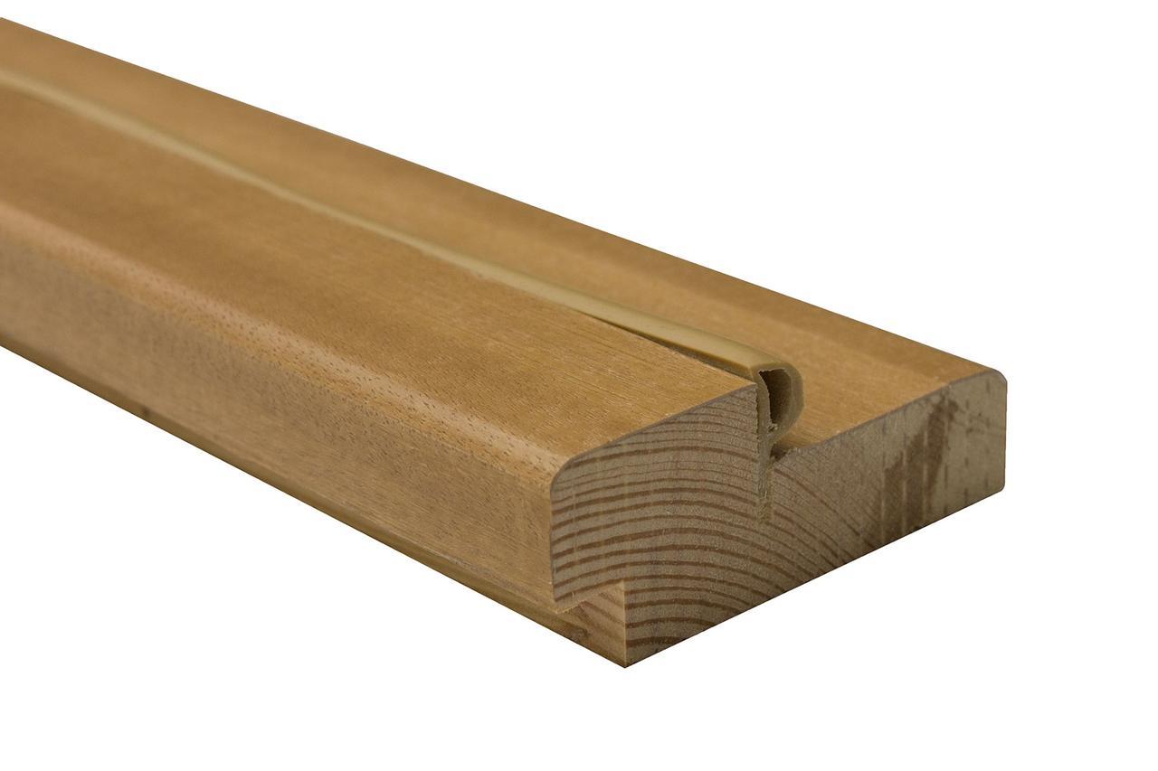 Дверная коробка сосна шпон 75х30 мм дуб натуральный тонированный (комплект)