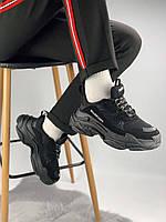 Кроссовки Balenciaga Triple S Triple Black, фото 1