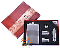 Подарочный набор 5в1 Moongrass Фляга/ Рюмки/ Нож/ Лейка