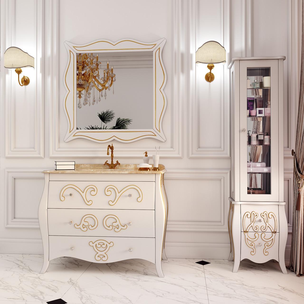 Тумба для ванной комнаты Marsan Arlette 1200 контур золото