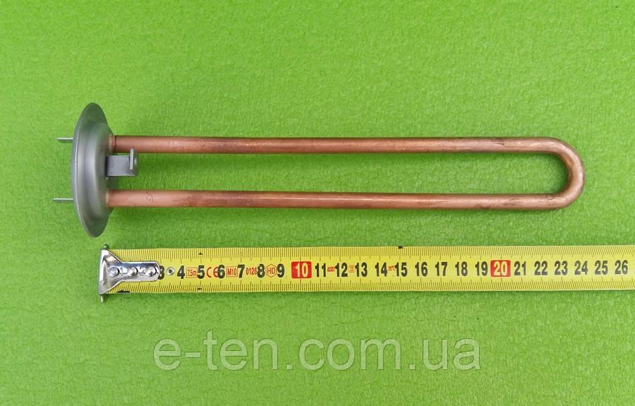 МІДНИЙ тен для бойлерів Thermex 700W (на фланці Ø63мм) / з місцем під анод М4 KAWAI
