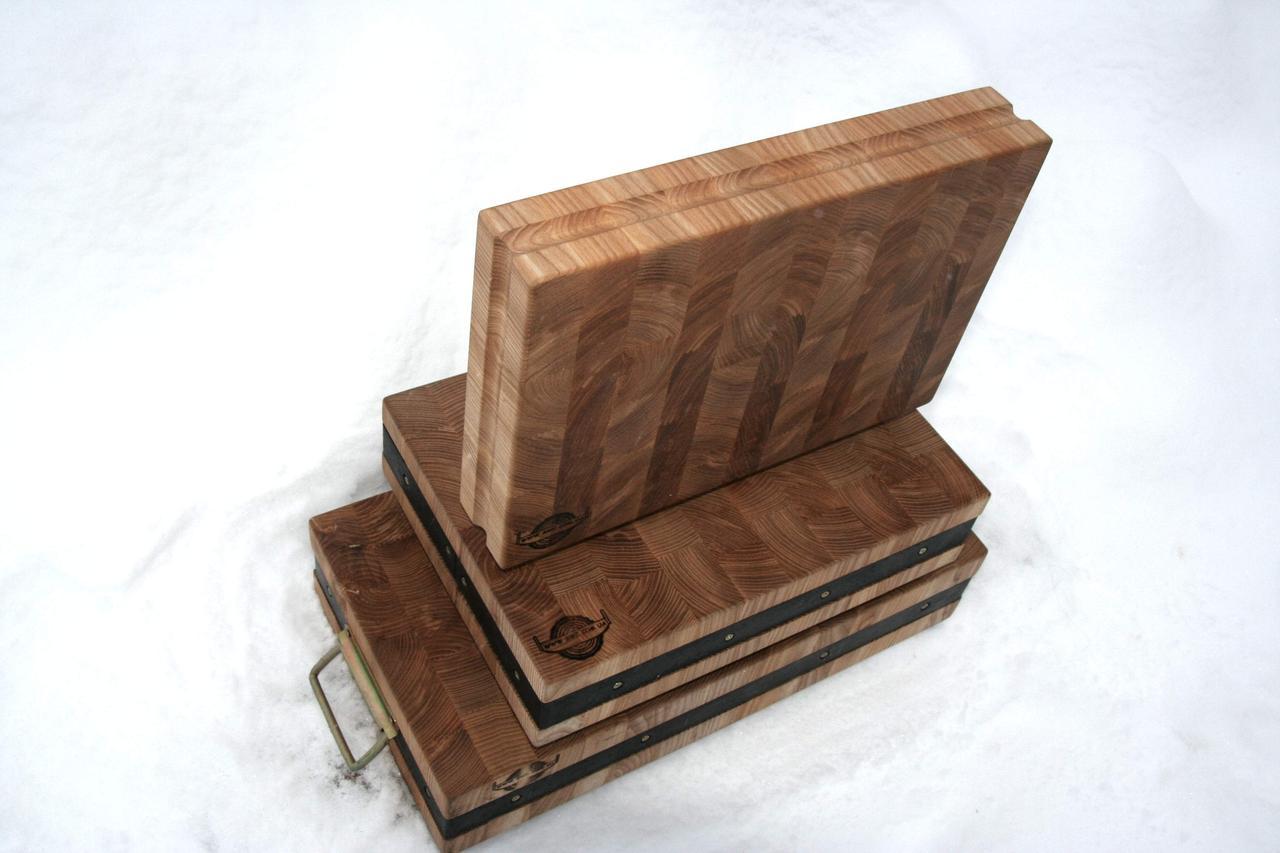 Торцевая колода для рубки мяса (Ясень)