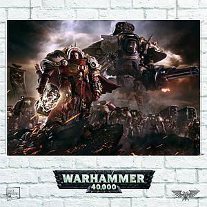 Постер Warhammer 40000, Dawn of War 3. Размер 60x42см (A2). Глянцевая бумага