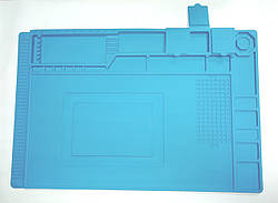 Коврик органайзер на рабочий стол  S-160 450*300 мм (силиконовый, антистатический, термоустойчивый)