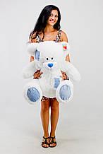М'яка іграшка ведмедик з латками 100 см, білий