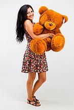 М'яка іграшка ведмедик з латками 100 см, коричневий