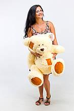 М'яка іграшка ведмедик з латками 100 см, крем