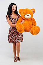 М'яка іграшка ведмедик з латками 100 см, карамель\світло-коричневий