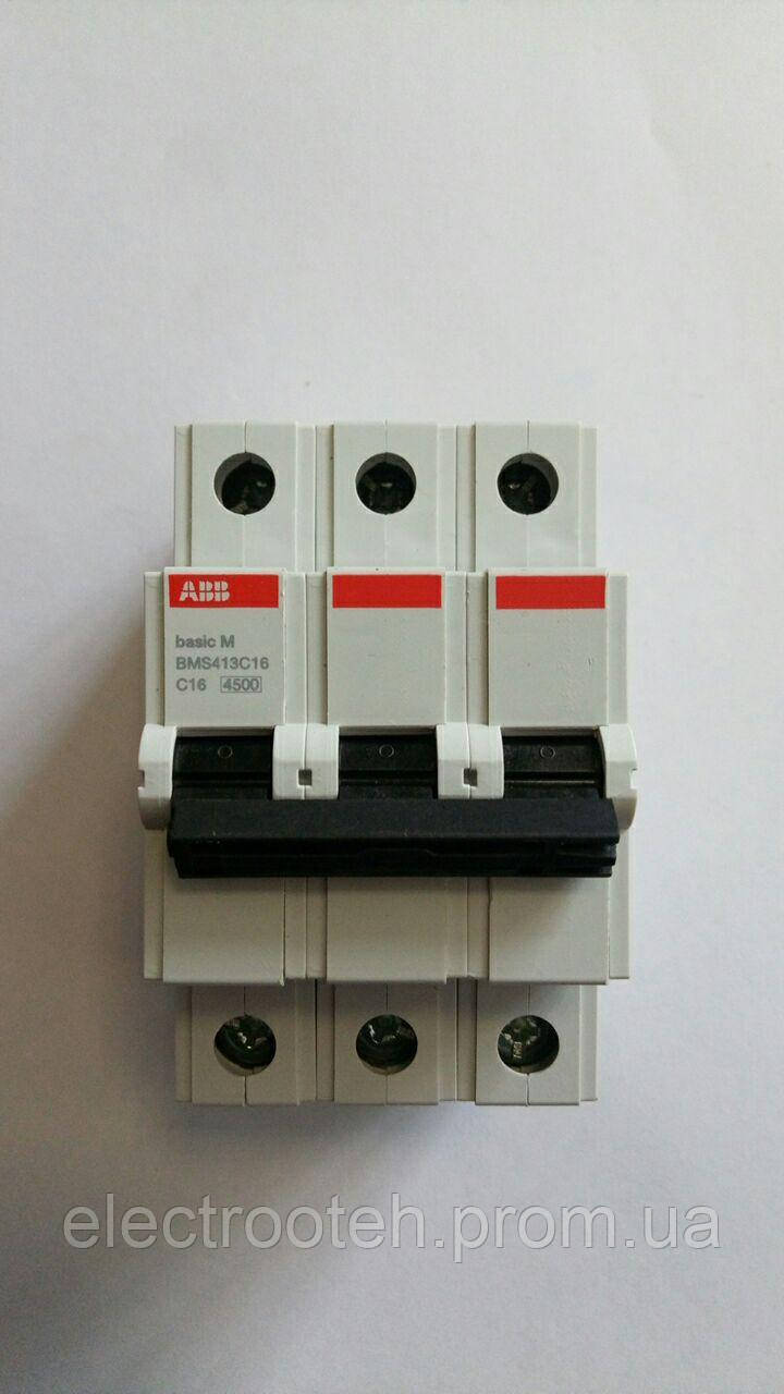 Автоматический выключатель ABB (3Р, 16 А, C) 4.5 кА