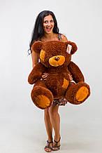 М'яка іграшка ведмедик з латками 100 см, шоколадний