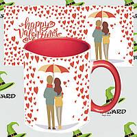 Подарочная чашка для влюбленных Романтика