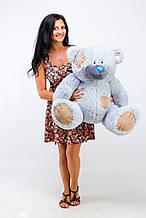 М'яка іграшка ведмедик з латками 100 см, сірий