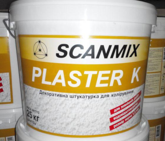 Фасадная штукатурка барашек Scanmix PLASTER К1,5(25 кг)