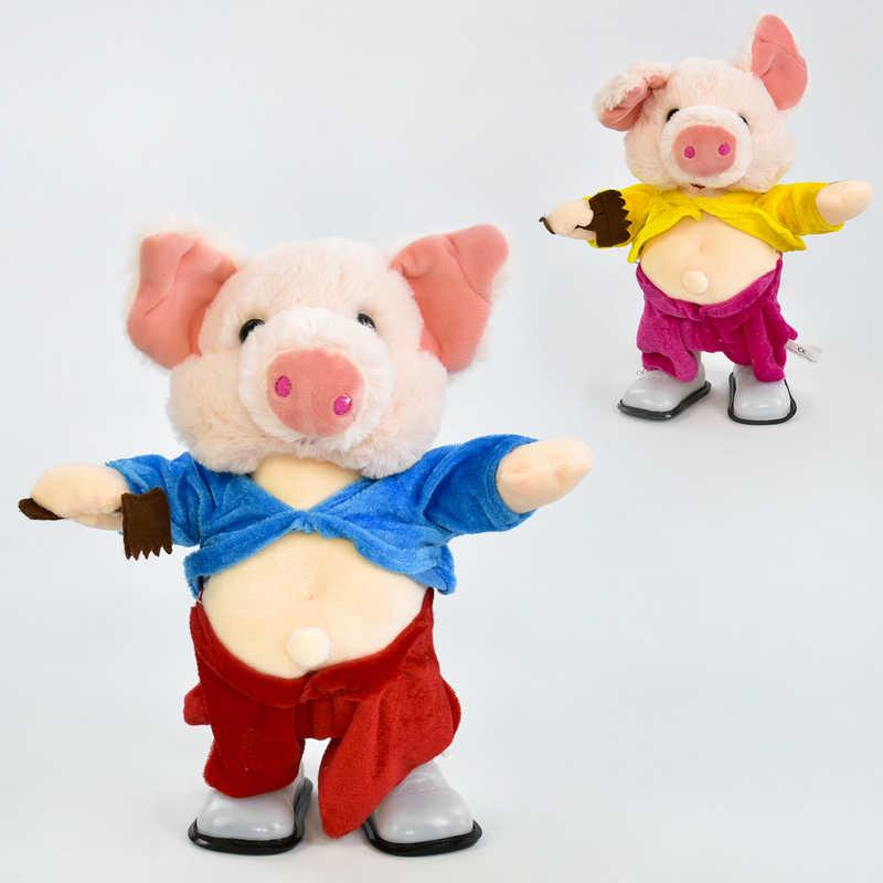 УЦЕНКА Музыкальная игрушка Свинка C 30479 (36) высота 30см, ходит, поёт песенки на русском и англ. языках, в кульке СЛОМАНА НОГА