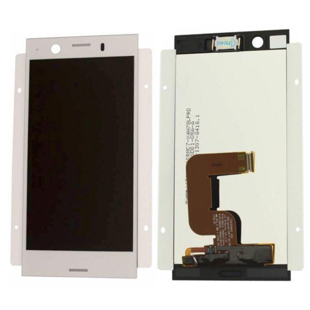 Дисплей для Sony G8441 Xperia XZ1 Compact с тачскрином серебристый, White Silver Оригинал