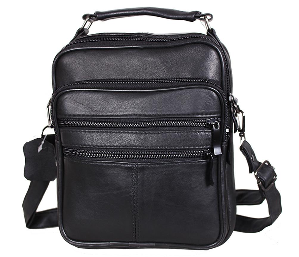 Мужская кожаная сумка Dovhani SW8723 Черная