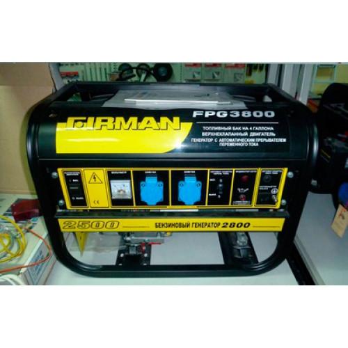Бензиновый Генератор FIRMAN FPG 3800 2,5/2,8 КВт.