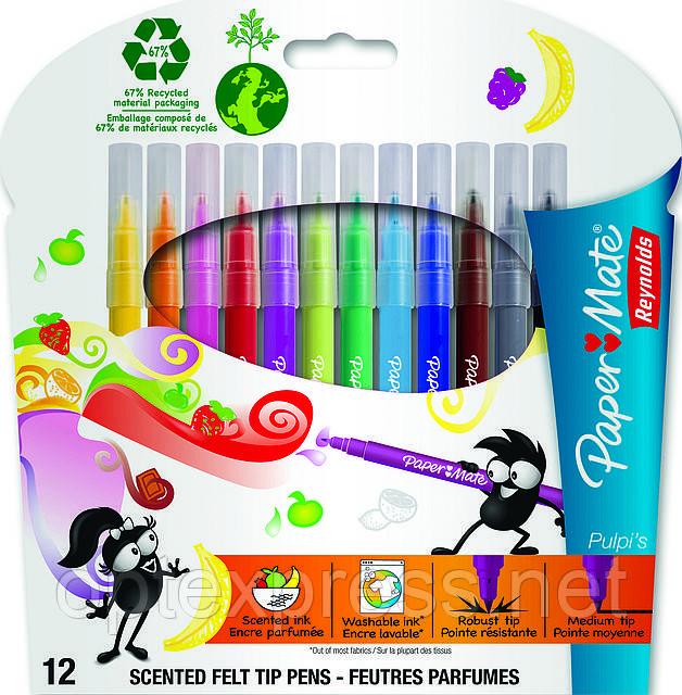 Pulpi's  Фломастеры  с ароматными чернилами 12 шт Paper Mate