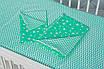 """Яркое сменное детское постельное белье в кроватку двухцветное """"Мятный зиг-заг"""", фото 3"""