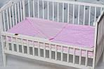 """Нежное детское постельное белье в кроватку двухцветное """"Розовый зиг-заг"""", фото 3"""