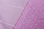 """Нежное детское постельное белье в кроватку двухцветное """"Розовый зиг-заг"""", фото 2"""