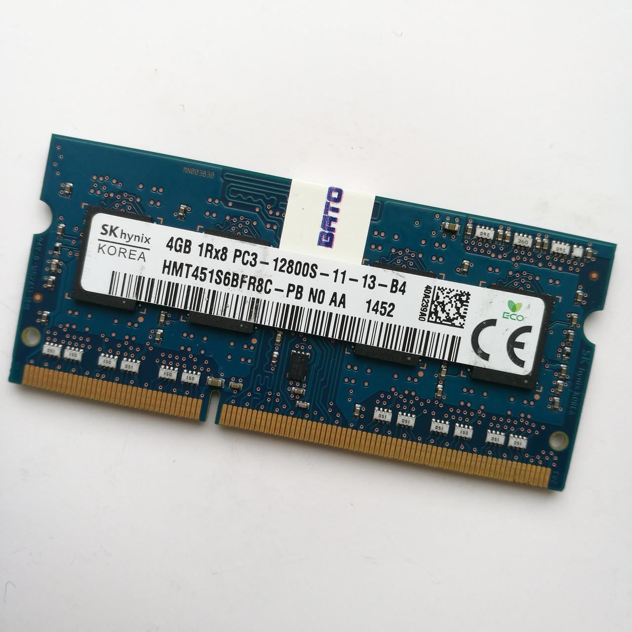 Оперативная память для ноутбука Hynix SODIMM DDR3 4Gb 1600MHz 12800s 1R8 CL11 (HMT451S6BFR8C-PB N0 AA) Б/У