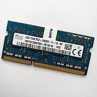Оперативная память для ноутбука Hynix SODIMM DDR3 4Gb 1600MHz 12800s 1R8 CL11 (HMT451S6BFR8C-PB N0 AA) Б/У, фото 1