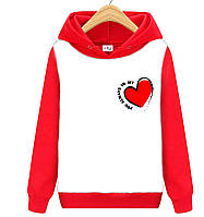 Толстовка MY HEART  красно-белая, фото 1