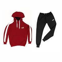 4f8f03e766e717 Мужской спортивный костюм бордовый с логотипом бренда Adidas , Puma ЗИМА  много размеров