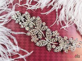 Украшения для волос диадема Бабочки гребень праздничный