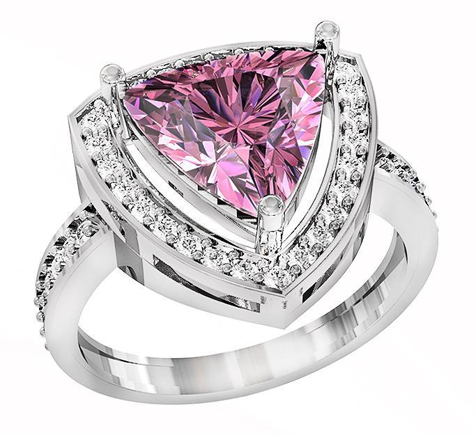 Кольцо  женское серебряное Triangle 111 730
