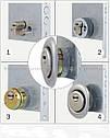 Броненакладка DISEC SFERIK BD16 DIN OVAL 25мм Латунь_полірована 3клас L Зовнішній, фото 3