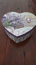 Картонна Коробка у формі серця(прованс)