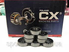 Подшипники для роликовых коньков,самокатов,скейтбордов 8шт. CX POLAND 608-2RS