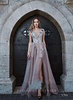 Длинное вечернее платье с разрезом под заказ