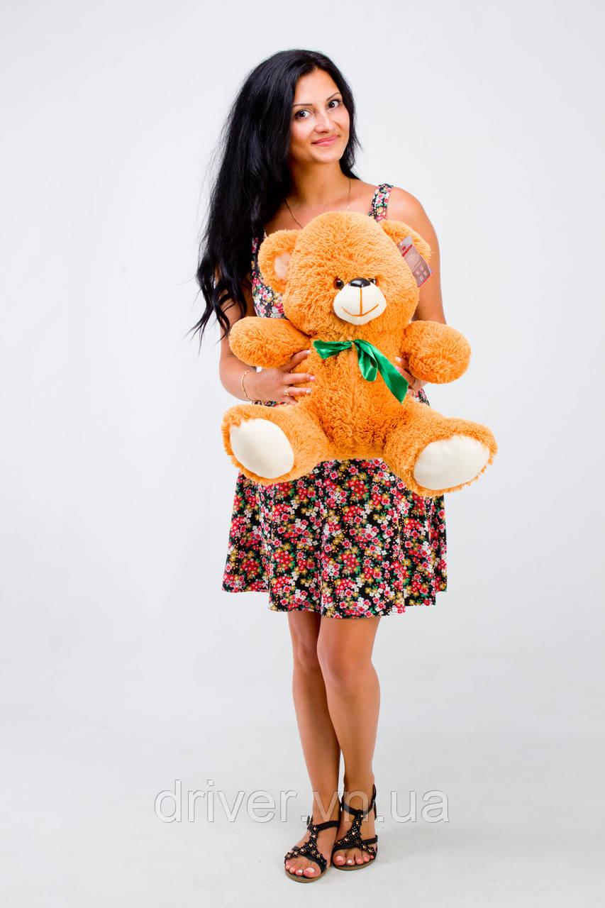 М'яка іграшка ведмедик Том 50 см, карамель\світло-коричневий