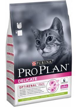 Сухой корм для котов Pro Plan (Про План) Delicate 1.5 кг. с ягненком для кошек с уязвимым пищеварением