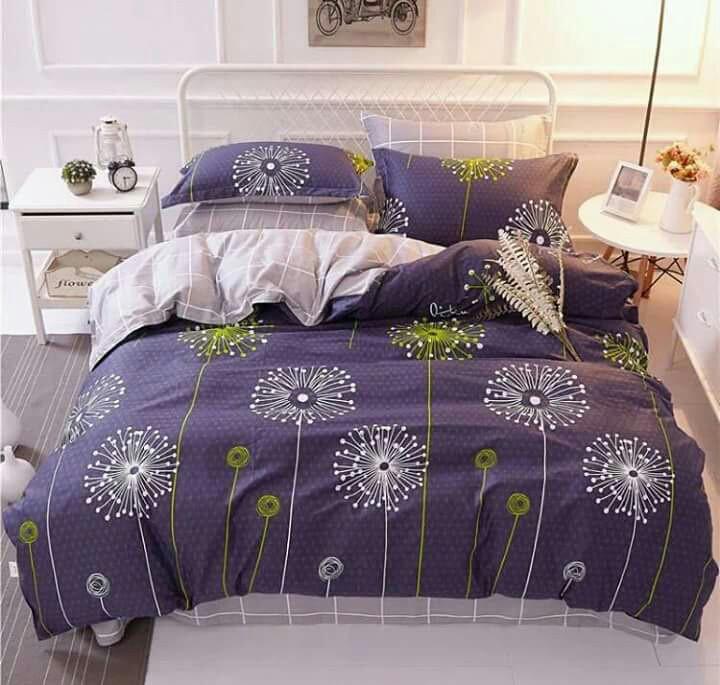 Комплект постельного белья евро Одуванчики салатовые