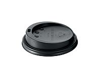 Крышки  для бумажных стаканов D90 100 шт. (черные , 300-400 мл)