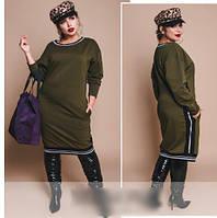 Сукня трикотажне вільного фасону, з 48 по 58 розмір, фото 1
