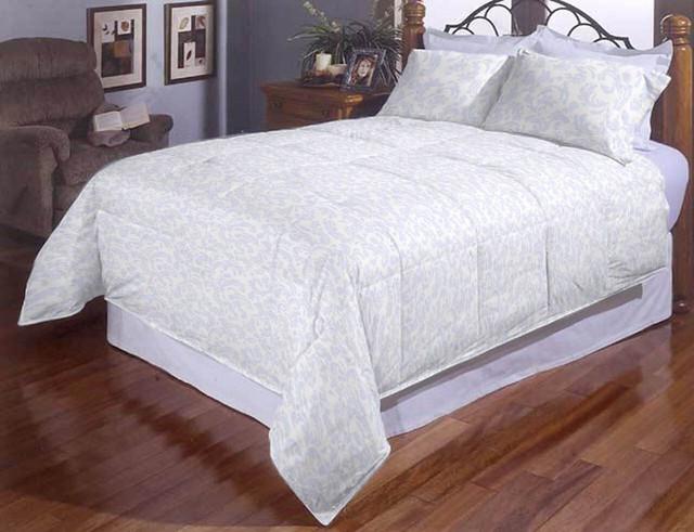 Комплект постельного белья евро Белый завиток