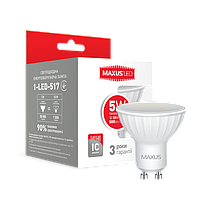 Лампа светодиодная MAXUS 5W MR16 GU10 нейтральный белый