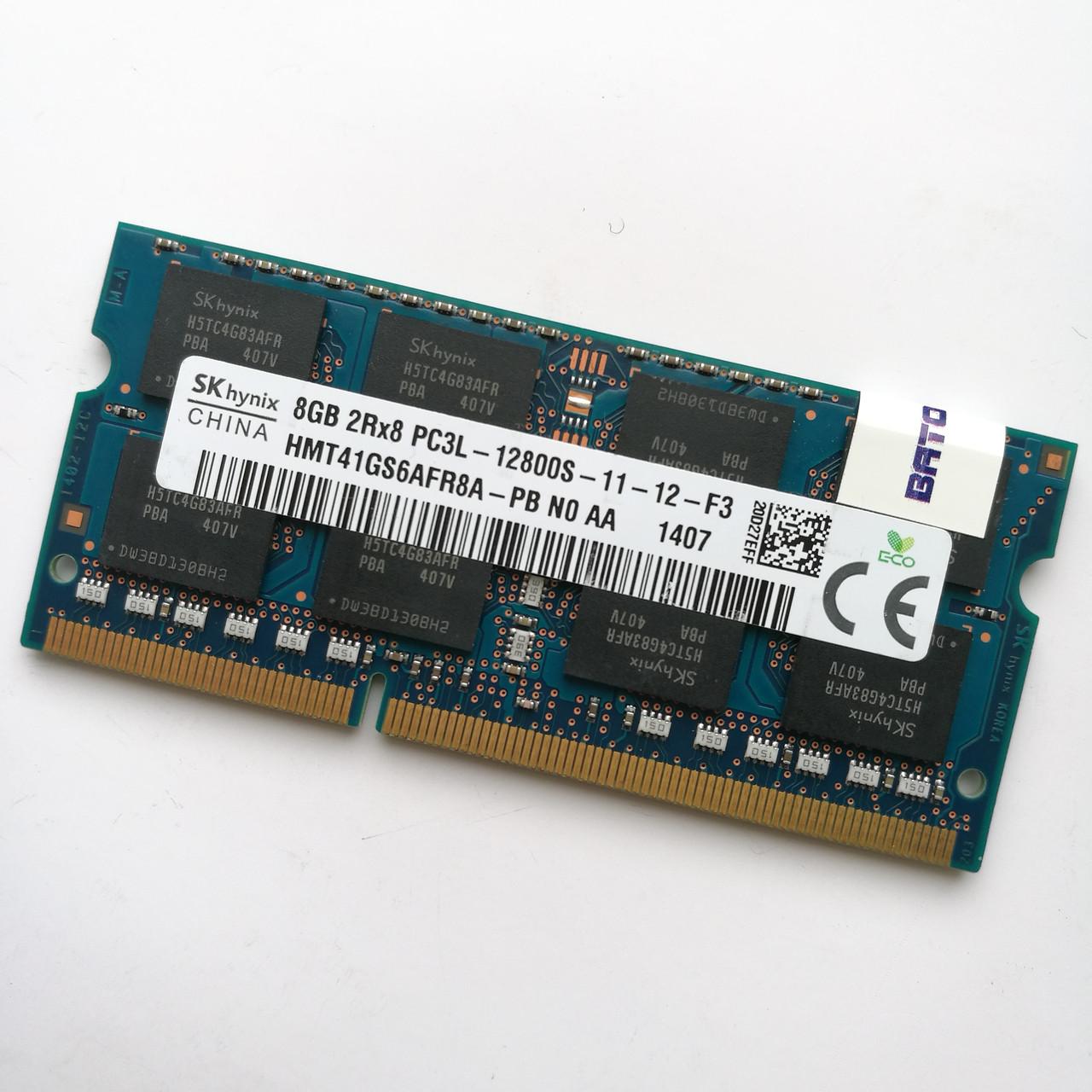 Оперативная память для ноутбука Hynix SODIMM DDR3L 8Gb 1600MHz 12800s CL11 (HMT41GS6AFR8A-PB N0 AA) Б/У
