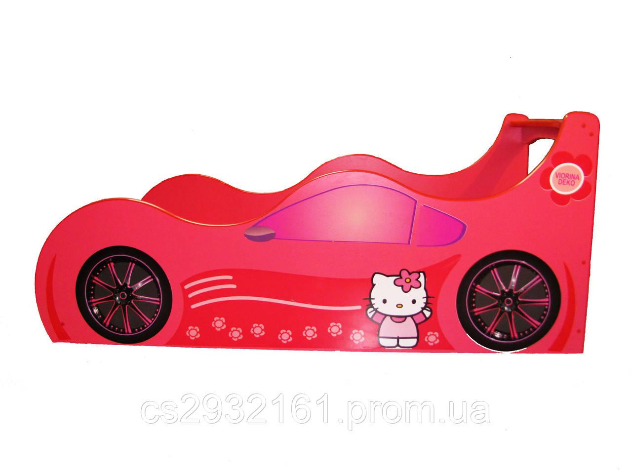 Кровать машина Hello kitty Детская кровать машина Хелло Китти Серия Forsage