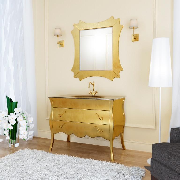 Тумба для ванной комнаты Marsan Dianne 1050 античное золото