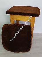 Чехол - подушка на табурет Вельвет,  комплект 4шт.
