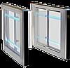 Турнікет SWEEPER S-1 (права + ліва стійки), шліфована н/ж сталь AISI 304, стільниці - чорне скло